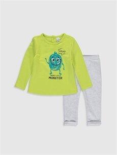 Ekru Erkek Bebek Tişört ve Pantolon 9WM731Z1 LC Waikiki