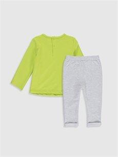 %95 Pamuk %1 Polyester %4 Elastan  Erkek Bebek Tişört ve Pantolon