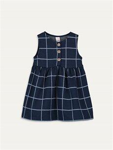 Mavi Kız Bebek Ekose Elbise 9WM989Z1 LC Waikiki