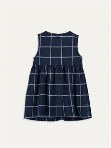 %74 Polyester %26 Viskoz Ekoseli Kız Bebek Ekose Elbise