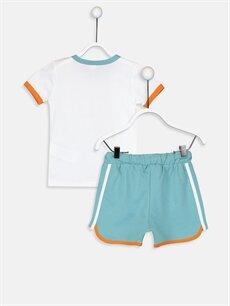 %100 Pamuk  Erkek Bebek Baskılı Tişört ve Şort