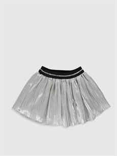 %100 Polyester %100 Pamuk Uzun Düz Kız Bebek Viskon Etek
