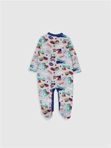 %97 Pamuk %3 Polyester Standart Tulum Erkek Bebek Baskılı Tulum