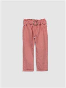 Pembe Kız Bebek Poplin Pantolon 9WO992Z1 LC Waikiki
