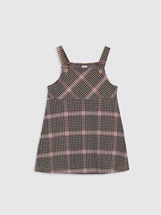 Siyah Kız Bebek Ekose Elbise 9WP204Z1 LC Waikiki