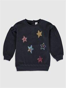 Antrasit Kız Bebek Sweatshirt 9WP656Z1 LC Waikiki