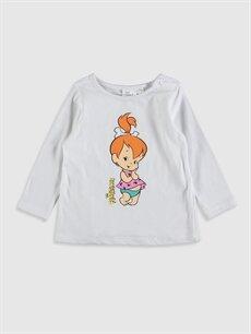 Kız Bebek Kız Bebek Taş Devri Çakıl Baskılı Pijama Takımı