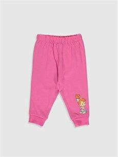 Kız Bebek Taş Devri Çakıl Baskılı Pijama Takımı
