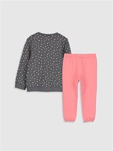 %60 Pamuk %40 Polyester %100 Pamuk  Kız Bebek Desenli Tişört ve Tayt 2'li