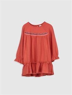 Turuncu Kız Bebek Elbise 9WP929Z1 LC Waikiki