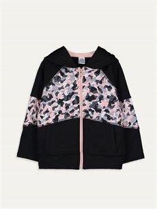 Siyah Kız Bebek Desenli Sweatshirt 9WQ323Z4 LC Waikiki