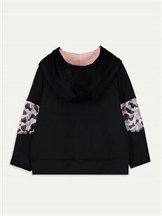 %91 Polyester %9 Elastan  Kız Bebek Desenli Sweatshirt