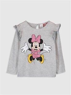 Gri Kız Bebek Minnie Mouse Baskılı Tişört  9WQ335Z1 LC Waikiki