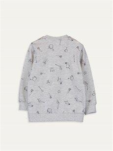 %50 Pamuk %50 Polyester  Erkek Bebek Baskılı Sweatshirt