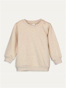 Bej Erkek Bebek Basic Sweatshirt 9WQ628Z1 LC Waikiki