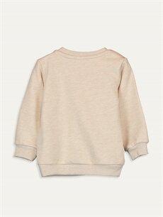 %62 Pamuk %38 Polyester  Erkek Bebek Basic Sweatshirt