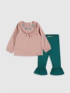 Pembe Kız Bebek Bluz ve Tayt 9WQ788Z1 LC Waikiki