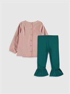 %100 Pamuk %82 Pamuk %13 Polyester %5 Elastan  Kız Bebek Bluz ve Tayt