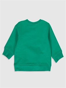 %96 Pamuk %4 Elastan  Erkek Bebek Donald Duck Desenli Sweatshirt