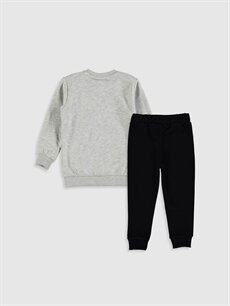 %45 Pamuk %55 Polyester %72 Pamuk %28 Polyester  Erkek Bebek Arabalar Baskılı Sweatshirt ve Pantolon