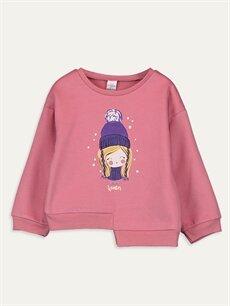 Pembe Kız Bebek Desenli Sweatshirt 9WR405Z1 LC Waikiki
