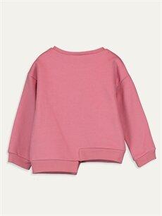 %72 Pamuk %28 Polyester  Kız Bebek Desenli Sweatshirt