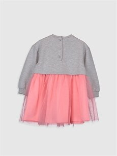 %50 Pamuk %50 Polyester %100 Pamuk Desenli Kız Bebek Minnie Mouse Baskılı Elbise