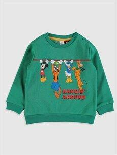 Erkek Bebek Erkek Bebek Disney Baskılı Sweatshirt ve Pantolon