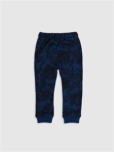 %70 Pamuk %30 Polyester  Erkek Bebek Desenli Jogger Pantolon
