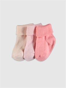 Çok Renkli Kız Bebek Soket Çorap 3'lü 9WS293Z1 LC Waikiki