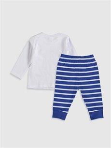 %100 Pamuk Standart Pijamalar Erkek Bebek Baskılı Pamuklu Pijama Takımı