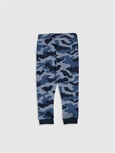 %57 Pamuk %43 Polyester  Erkek Bebek Kamuflaj Desenli Pantolon