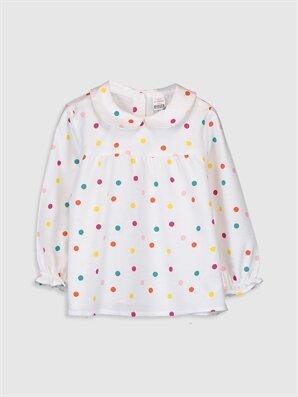 Kız Bebek Puantiyeli Flanel Bluz - LC WAIKIKI