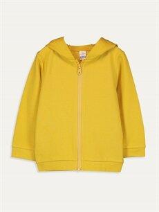 Sarı Kız Bebek Fermuarlı Sweatshirt 9WS758Z1 LC Waikiki