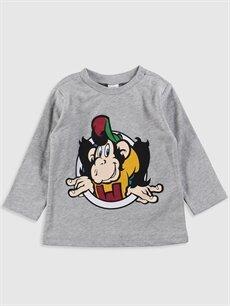 Erkek Bebek Erkek Bebek Nostaljik Maymun Baskılı Pijama Takımı