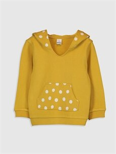 Kız Bebek Kız Bebek Puantiyeli Sweatshirt