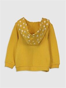 %100 Pamuk Kız Bebek Puantiyeli Sweatshirt