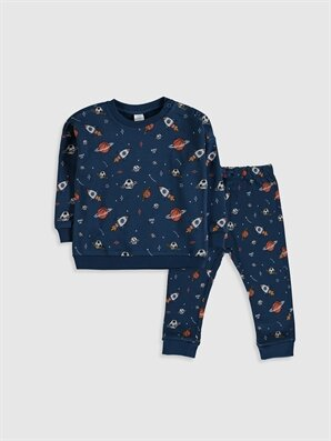Erkek Bebek Desenli Sweatshirt ve Pantolon - LC WAIKIKI