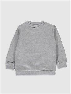 %36 Pamuk %64 Polyester  Erkek Bebek Mickey Mouse Baskılı Sweatshirt