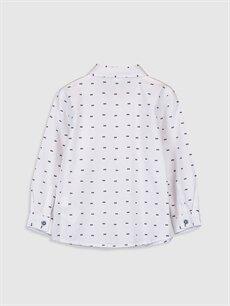 %100 Pamuk Standart Desenli Uzun Kol Erkek Bebek Desenli Oxford Gömlek