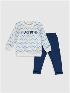Mavi Erkek Bebek Sweatshirt ve Pantolon 9WT939Z1 LC Waikiki