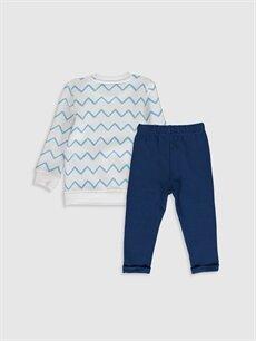 %85 Pamuk %15 Polyester  Erkek Bebek Sweatshirt ve Pantolon