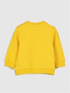 %95 Pamuk %5 Elastan  Erkek Bebek Yazı Baskılı Sweatshirt