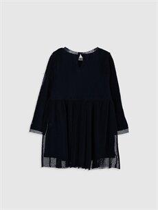 %100 Polyester %100 Pamuk Düz Kız Bebek Tül Elbise