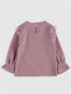 %82 Polyester %18 Viskoz  Kız Bebek Sweatshirt