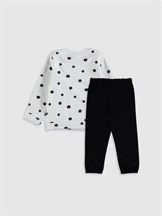 %65 Pamuk %35 Polyester  Kız Bebek Sweatshirt ve Tayt
