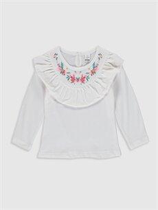 Kız Bebek Kız Bebek Pamuklu Baskılı Tişört ve Tayt