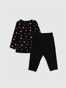 %100 Pamuk %100 Pamuk Standart Pijama Kız Bebek Baskılı Pijama Takımı