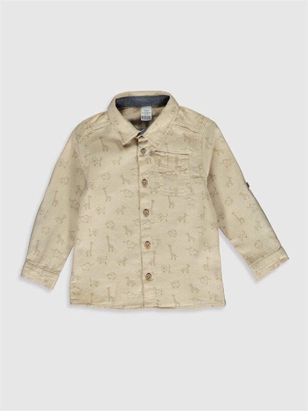 Erkek Bebek Desenli Twill Gömlek - LC WAIKIKI