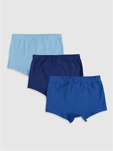 %96 Pamuk %4 Elastan Standart İç Giyim Alt Erkek Bebek Boxer 3'lü